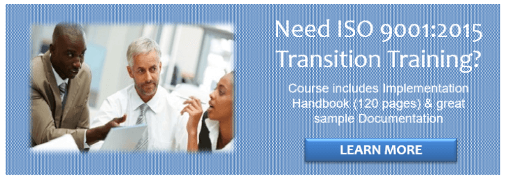 ISO 9001 Transition